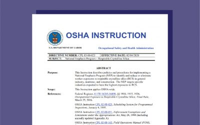 OSHA Releases NEP on Respirable Crystalline Silica